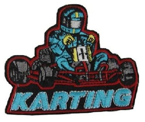 Set 5 x Aufnaeher 8 x 6,5 cm Kart Karting