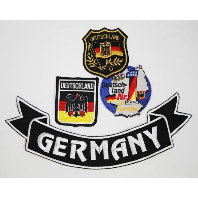 4 x Aufnaeher Set Germany Deutschland