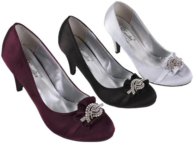 Damen Woman Trend Strass Steine Glitzer Pumps Schuh Shoes Absatz Business Freizeit Damenschuhe nur 3,49 Euro