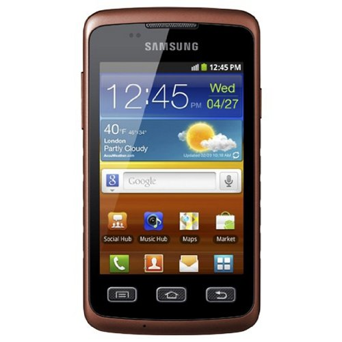 Samsung Galaxy Xcover S5690 Smartphone (9,3 cm (3,65 Zoll) Display, Touchscreen, 3,0 Megapixel Kamera, Android 2.3)