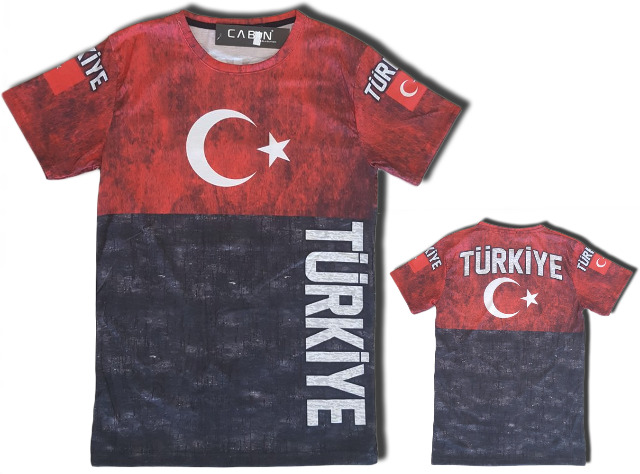Herren Men T-Shirt WM Fan Länder Shirt Türkei Türkiye Turkey Kurzarm Rundhals Motivdruck T-Shirts - 6,90 Euro