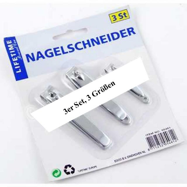 28-260269, Nagelknipser 3er Set, 3 Größen, Nagelschneider