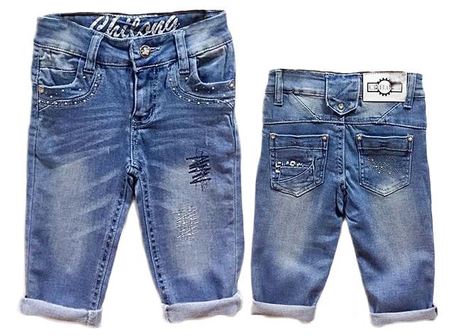 Kinder Kids Mädchen Jeans Short Kurz Strass Steine Patches Hose Vintage Hosen kurze Shorts nur 4,90 Euro