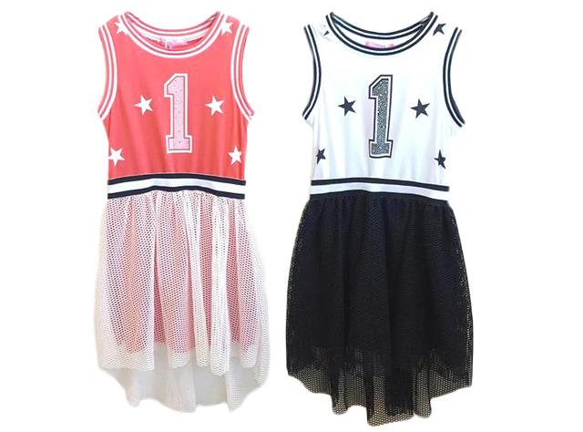 Kinder Mädchen Sommer Trend Kleid Sweatshirtkleid Sterne Netz Strass Steine Glitzer Strandkleid Longshirt Ärmellos Sweatshirt Oberteil  - 6,