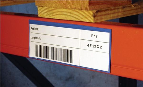 Etikettentaschen blau B.160xH.110mm DIN A6 magnetisch, 50 Stück