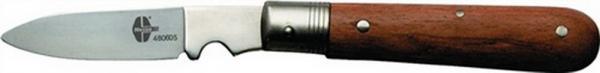 Kabelklappmesser 1tlg. Klingen-L.90mm mit Holzheft