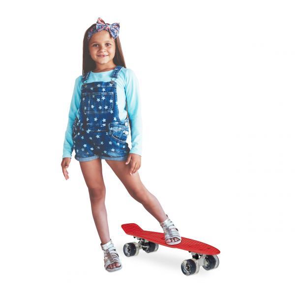 22 Zoll Skateboard mit LED Rollen