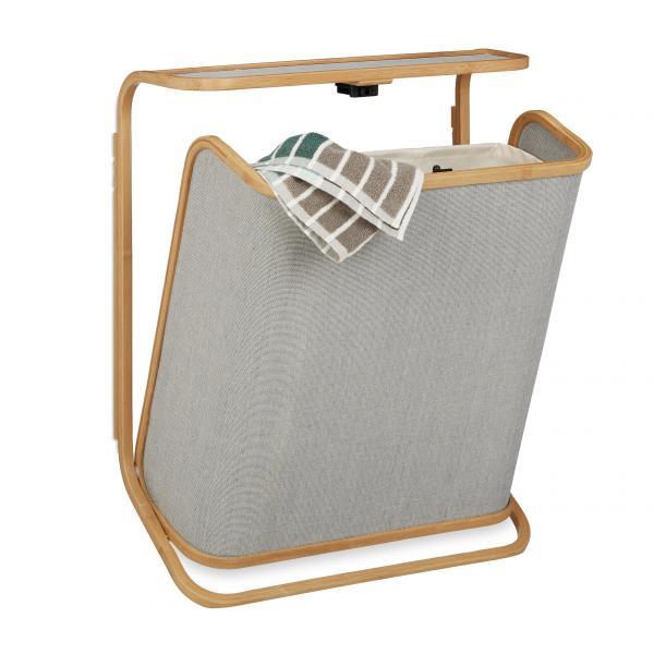 Bambus Wäschekorb für die Wand
