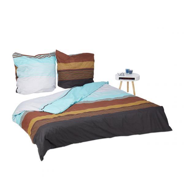 Bettwäsche gestreift in 3 Größen