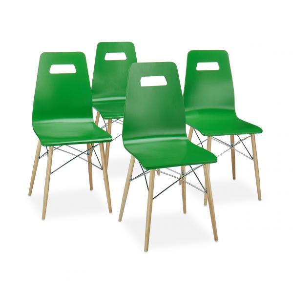 !Design Stuhl ARVID Holz 4er Set