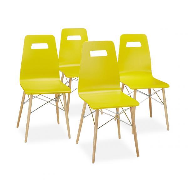 Design Stuhl ARVID Holz 4er Set