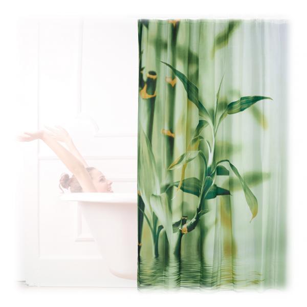 Duschvorhang Bambus in Grün
