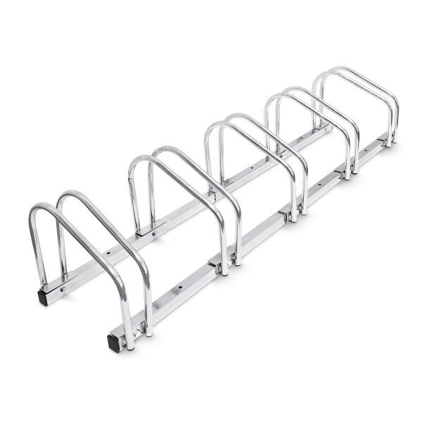 Fahrradständer 5 Fahrräder Stahl 130cm