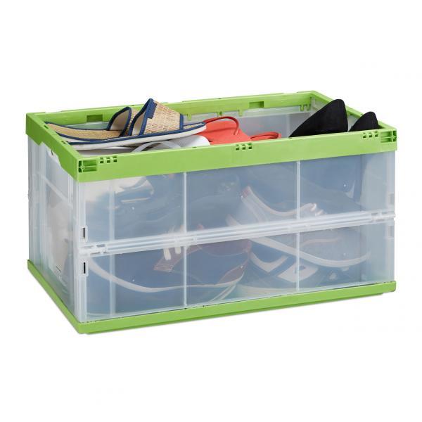 Faltbare Transportbox transparent