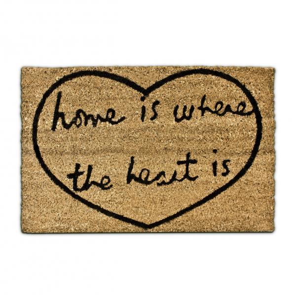Fußmatte Herz bedruckt Kokos 40x60 cm
