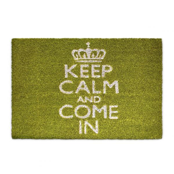 Fußmatte Keep Calm Kokos grün 40x60 cm