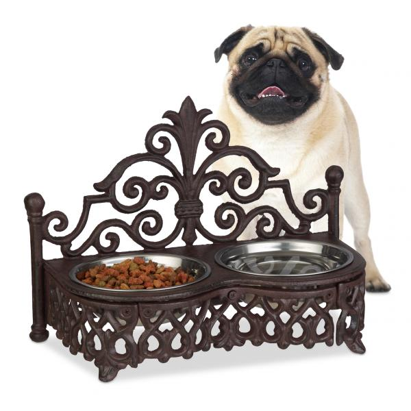 Futterbar Hunde Antik-Stil