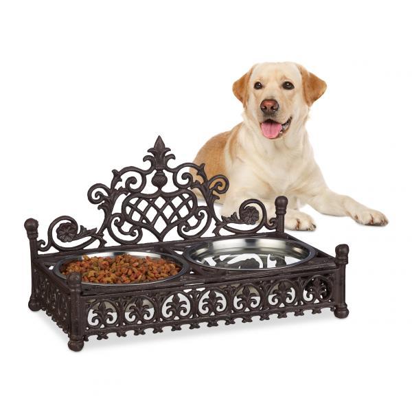 Futterbar Hunde aus Gusseisen