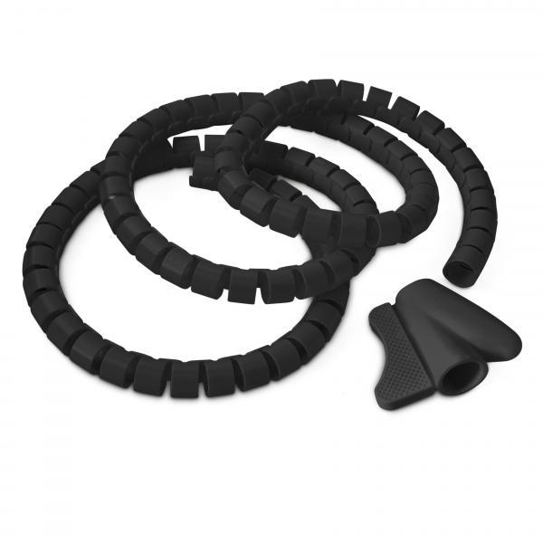 Kabelschlauch Kabelhülle schwarz 1,5 m