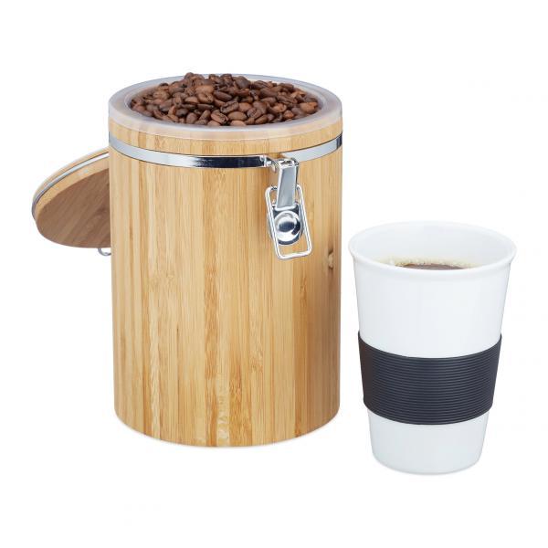 Kaffeedose Bambus