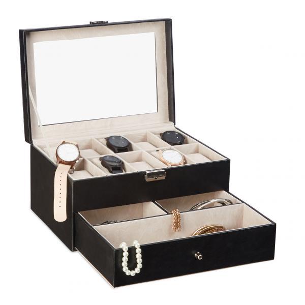 Kunstleder Uhrenbox für 10 Uhren