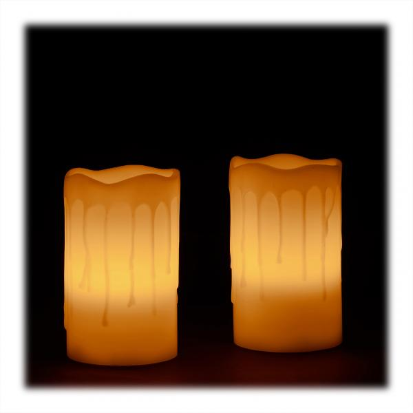 LED Kerzen Echtwachs im 2er Set