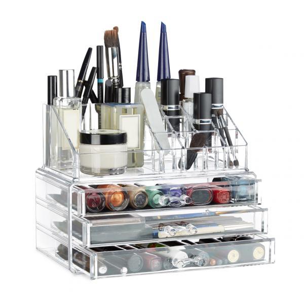 Make Up Organizer mit 3 Schubladen