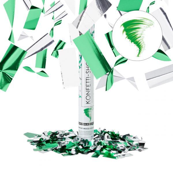 Party Popper Konfetti Silber-Grün