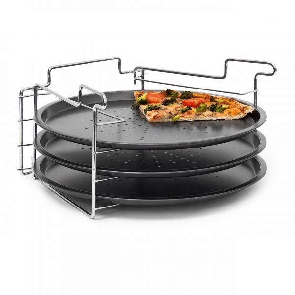 !Pizzabäcker Set mit 3 Backblechen