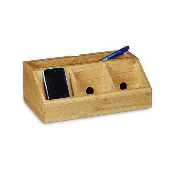Schreibtisch-Organizer Bambus
