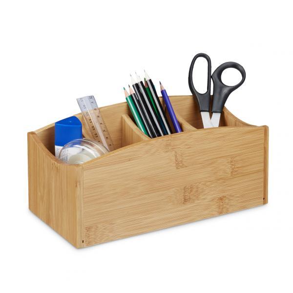 Schreibtischorganizer Bambus 4 Fächer