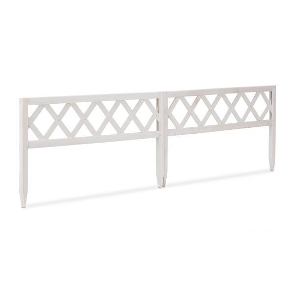 Steckzaun Set Weiß 60 cm
