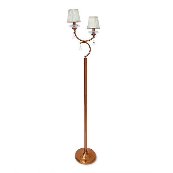 Stehlampe Kristallglas 2-armig