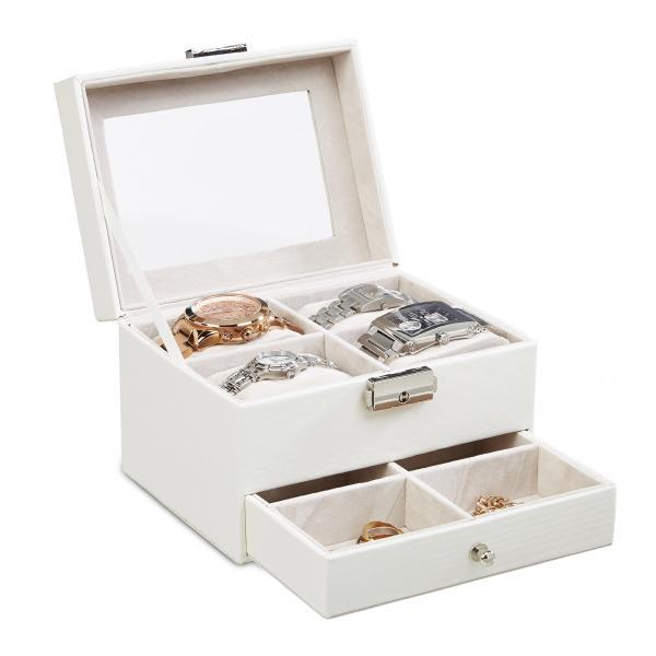 Uhrenbox Schmuckkästchen in 3 Farben