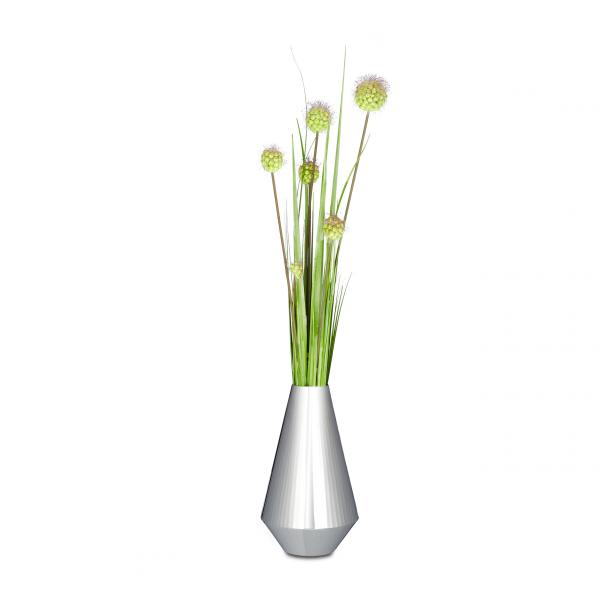 Vase silber in 2 Größen