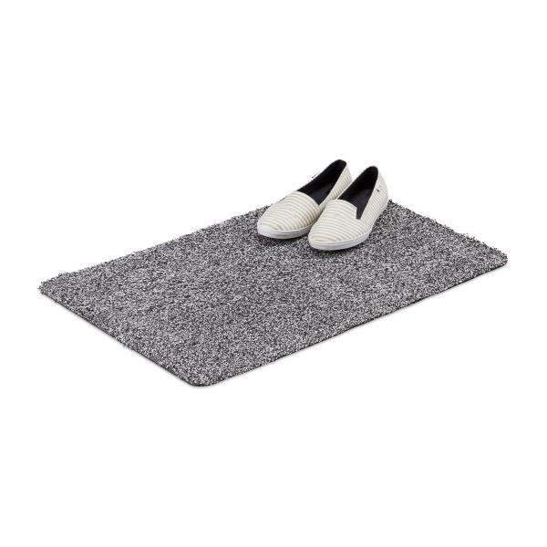 Waschbare Schmutzfangmatte schwarz-weiß