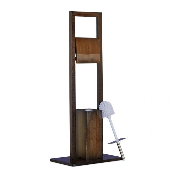WC Garnitur Bambus dunkelbraun