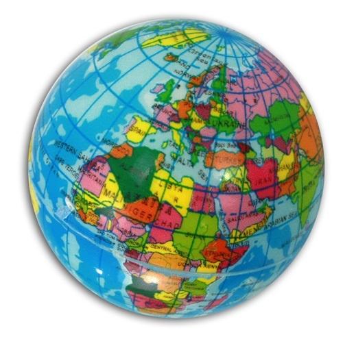 06-6019, Softball Weltkugel, Globus, Schaumstoff, Knautschball, Wasserball, Soft Ball, Werfball, Spielball