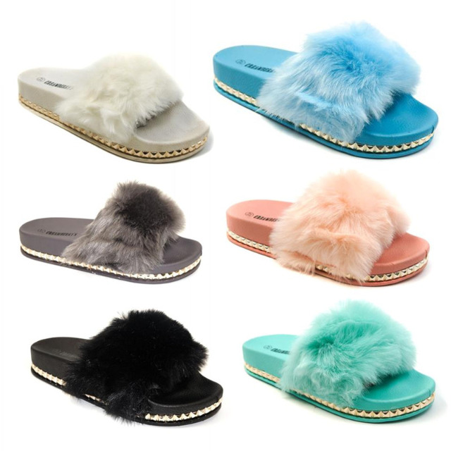 Damen Sommer Sandalen Slipper Schuhe