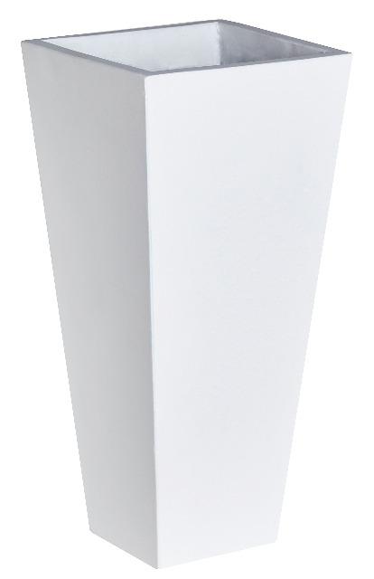 Pflanzgefäß Light Cement, 28 x 28 x 60 cm, ohne Einsatz, weiß ...