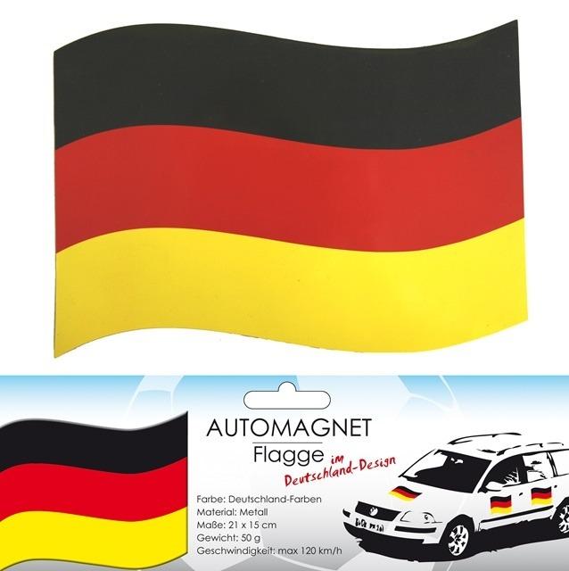 27-99627400, Metall Magnetflagge Deutschland, Magnetfahne, Autofahne, Automagnet Flagge