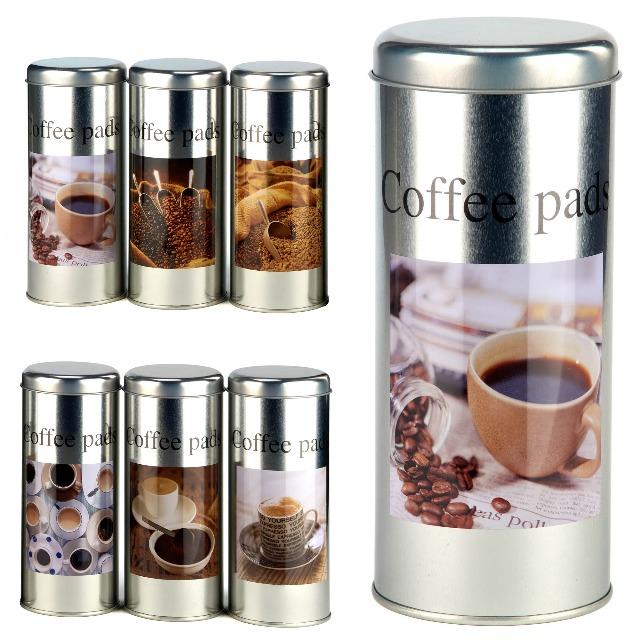 28-158549, Metall Kaffeedose für Kaffeepads