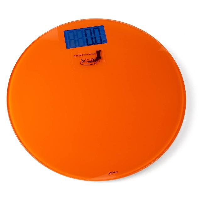 28-174673, Spirella Personenwaage, Orange, 150kg Tragkraft, blaubeleuchtetes, besonders großes LCD-Display++++