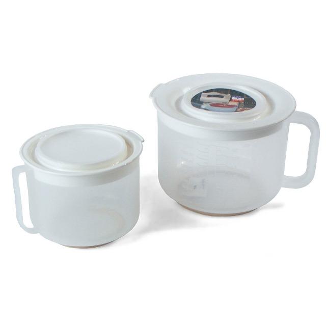 28-456217, Rührschüssel 2er Set 1 und 2 Liter, Mixerkannen  Meßbecher und vielseitig nutzbar