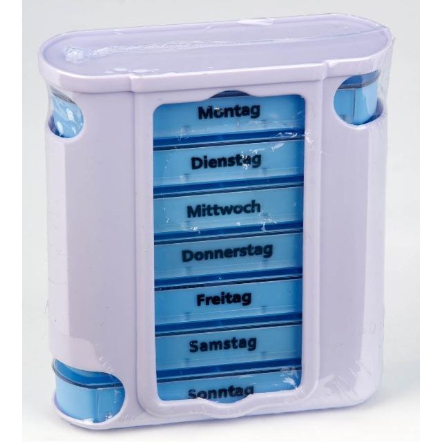12-80021, Pillenbox  Deluxe  für 7 Tage Fächer herausziehbar, Pillendose, SONDERPOSTEN