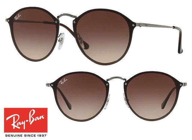 Topmodische Ray-Ban Blaze Round RB3574N Sonnenbrille Braun Unisex Design Sonnenbrillen Sunglasses Brille Brillen