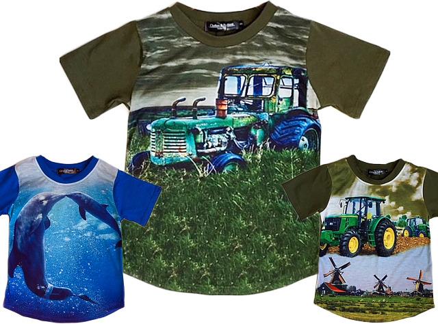 8f50b4244a8091 Kinder Jungen T-Shirt Traktor Bauer Delfine 2-14 Jahre Shirt Shirts Kurzarm Kindershirts  Oberteil - 4