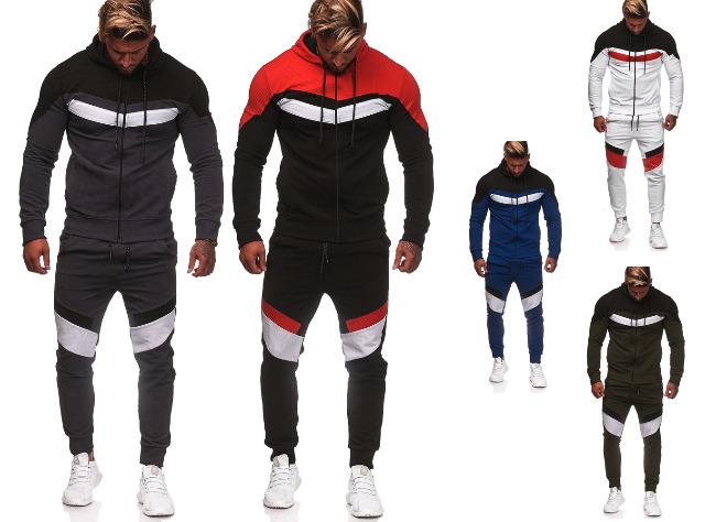 Herren Trend Jogging Anzug Sportanzug Trainingsanzug T-Shirt Kurze Hose Jogginganzug Hausanzug - 12,90 Euro