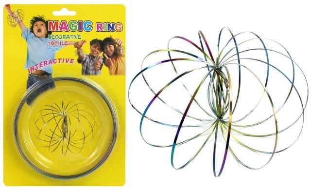 27-45452, Magic Armband 13 cm, Flow Ring Fun 3D REGENBOGEN, TOP TRENDY