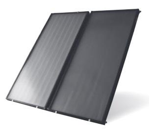 Solaranlage Flachkollektoren 250l Boiler Warmwasser Solarenergie